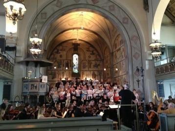 Dress rehearsal of Förklädd gud by Lars-Erik Larsson in S:t Matteus kyrka. Conductor; Sonny Jansson