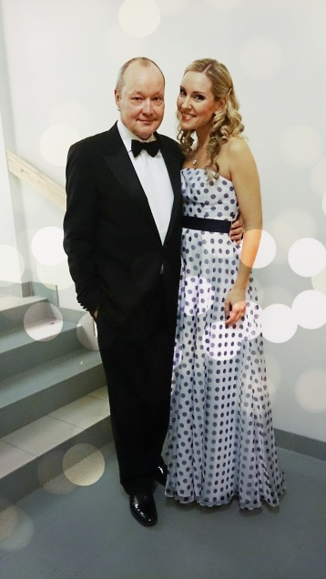Nils Landgren and Hannah Holgersson at the premier night of the New Year Concert tour 2015. Photo: Cecilia Tegenfeldt