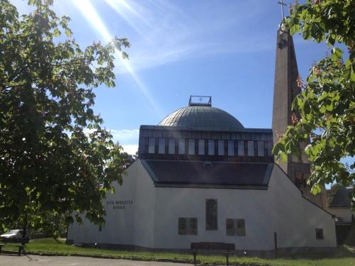 The concert venue; St:a Birgitta kyrka, Nockeby