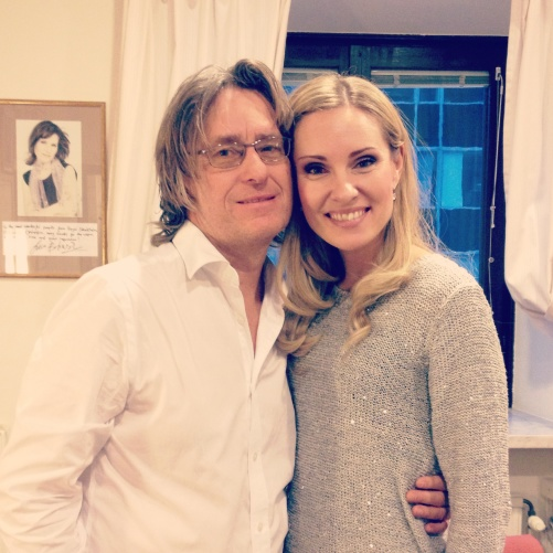 Anders Hillborg and Hannah Holgersson during recording, November 2014.