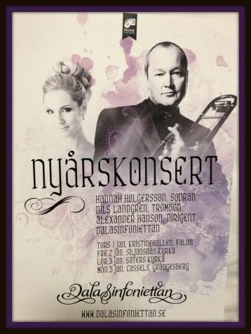 Hannah Holgersson and Nils Landgren New Year 2015