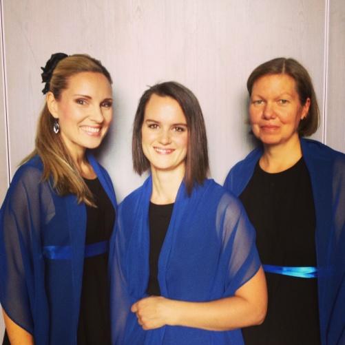 Me, Sara Niklasson and Helena Ströberg; solo trio of Davids Nimm by Karin Rehnqvist!