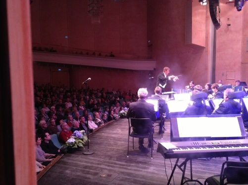 View from backstage during concert!