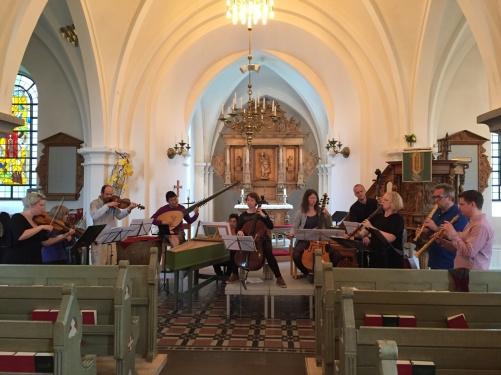 Dress rehearsal of the opening concert of Höör Baroque Festival 2016