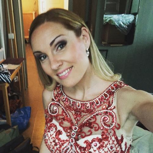 Hannah Holgersson backstage at Höörs kyrka