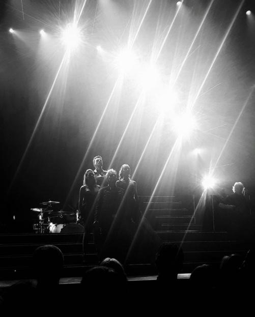 Final of Champions of Rock. From the left: Jenna Lee-James, Ola Salo, Peter Johansson, Hannah Holgersson and Neil Murray. Vida Arena Växjö. Photo: Maria Johansson