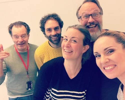 Fredrik Malmberg, Thomas Volle, Maria Sanner, Staffan Liljas and Hannah Holgersson.