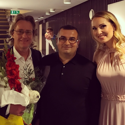 Anders Hillborg, Hayk Hakobyan and Hannah Holgersson after premiering Aeterna!