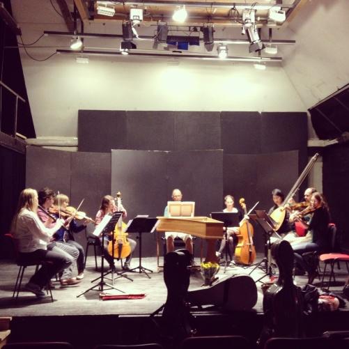 Rehearsal at Kulturhuset Anders Höör