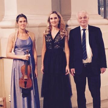 Katarina Bentson Dennis, Hannah Holgersson and Per-Ove Larsson at Adolf Fredriks kyrka, Stockholm