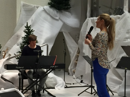 David Gyllingsten and Hannah Holgersson during rehearsal