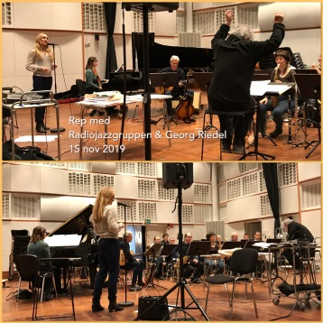 Hannah Holgersson rehearsing with Radiojazzgruppen and Georg Riedel