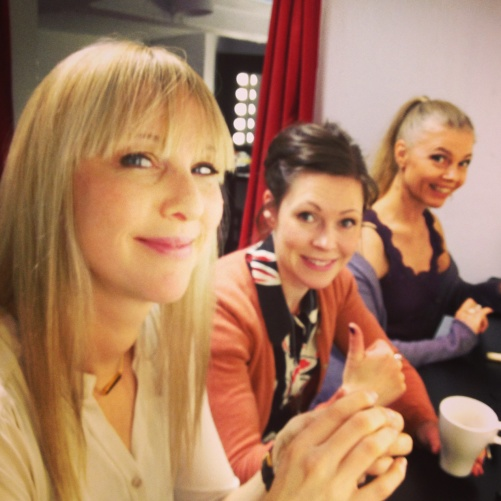 My beautiful friends Janna Vettergren, Emma Nilsdotter and Katarina Henryson getting ready for performance!