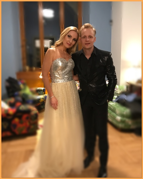 Hannah Holgersson and Andreas Weise during event at Nationalmuseum.