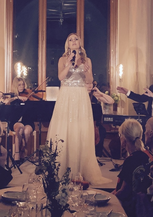Hannah Holgersson during event at Nationalmuseum.