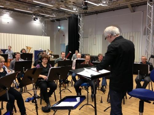 Bjørn Sagstad rehearsing with Marinens Musikkår, Karlskrona.