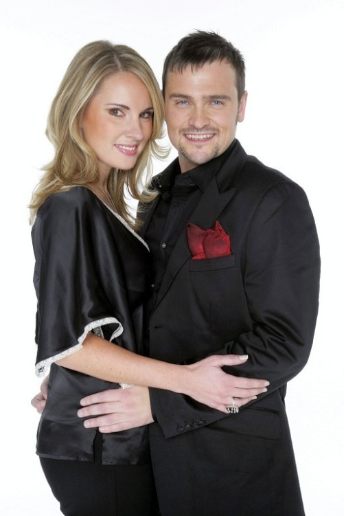 Hannah Holgersson and Anders Mårtensson 2006 participating in Melodifestivalen with the song Golden Star
