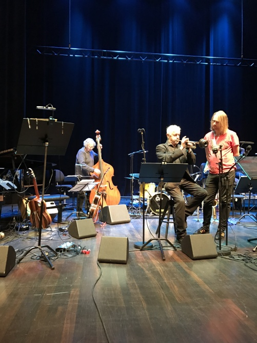 Georg Riedel and Jan Allan during soundcheck at Uppsala Konsert & Kongress.
