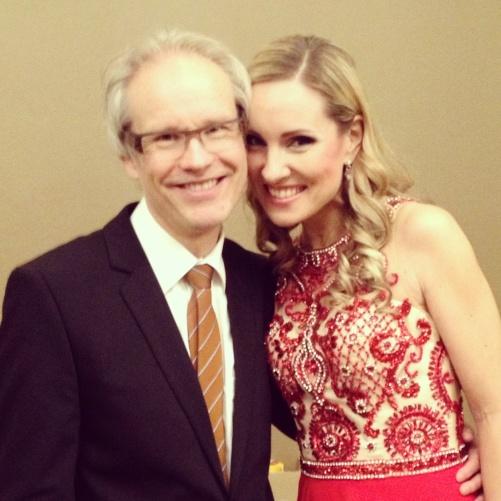 Bjørn Sagstad and Hannah Holgersson after the final concert!