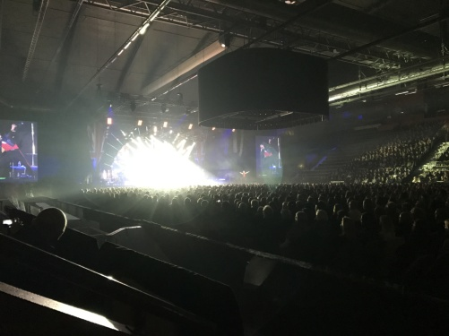 Full seated Kraft Arena Skellefteå Champions of Rock 2017