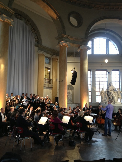 During rehearsal of Requiem by W A Mozart in Eric Ericsonhallen
