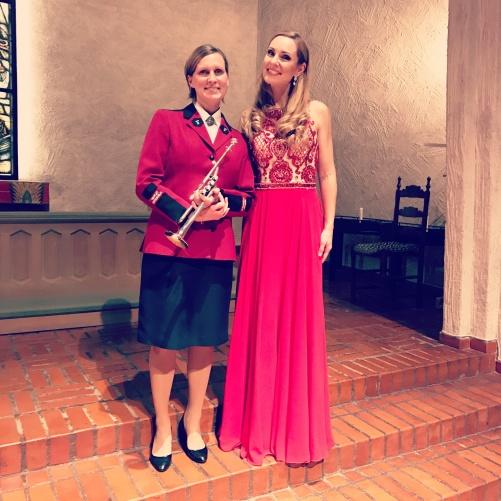 Charlotte Råström and Hannah Holgersson performing Händel