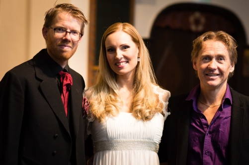 Conductor David Åberg, soprano Hannah Holgersson and composer Kjell Perder! Photo: Rikard Karlsson
