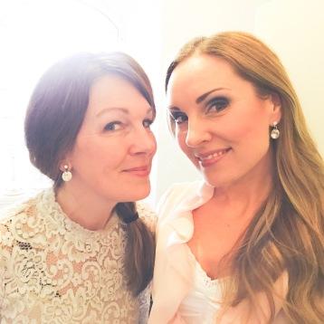 Anna Zander Sand och Hannah Holgersson before concert in Gustavsbergs kyrka