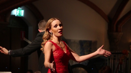 Hannah Holgersson at Oscarskyrkan, Stockholm. Photo: Björn Ehnberg
