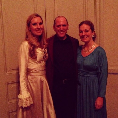 Hannah Holgersson, Mikael Stenbaek and Anna Zander Sand after successful premier of Messiah at Adolf Fredriks kyrka, Stockholm.