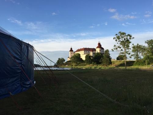 Läckö Slott in sunset.