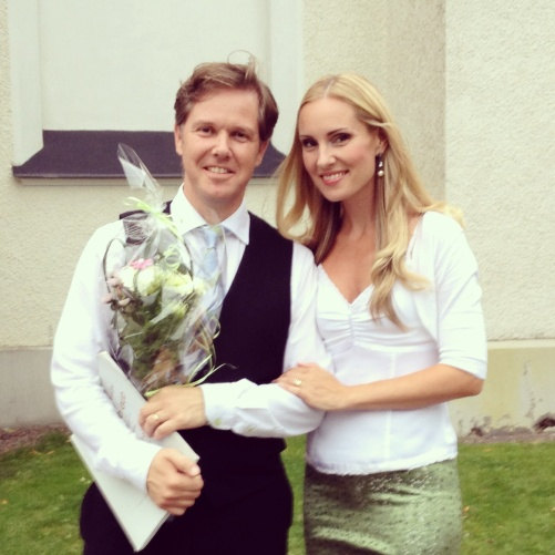Christoffer and Hannah Holgersson after the concert!