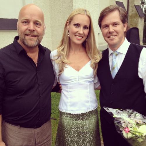 Tomas Bergström, Hannah and Christoffer Holgersson at Sunne church!