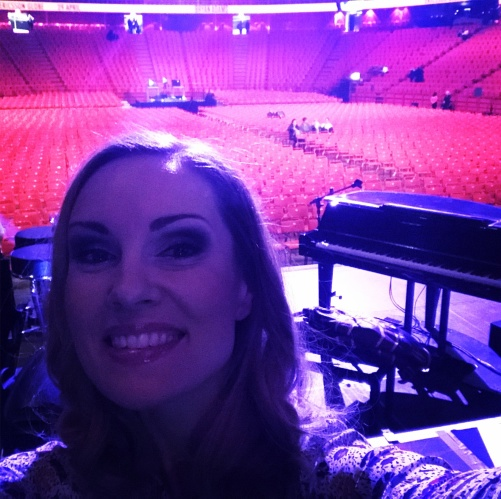 Hannah Holgersson at the Globen arena before the Champions of Rock show