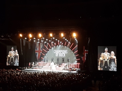 Final of the Champions of Rock show at Globen arena. Photo: Josefina Torkelsson