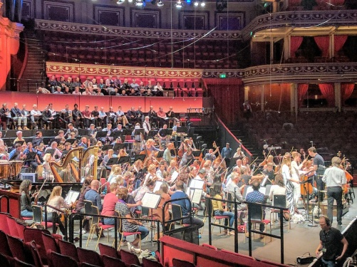 Dress rehearsal of Sirens at the Royal Albert Hall