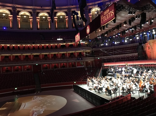 The Royal Albert Hall during dress rehearsal