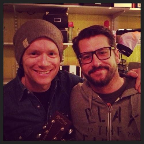 Peter Johansson and Sebastian Robertsson during rehearsal yesterday!