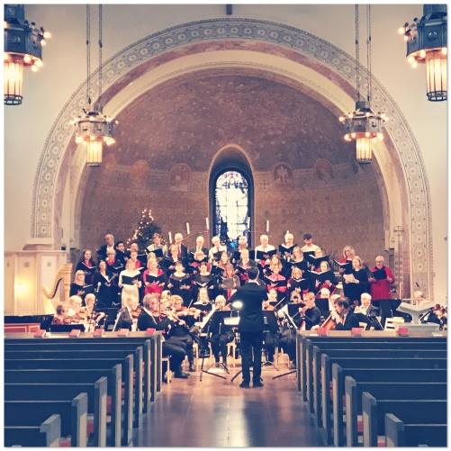 Rehearsal at Sundbybergs kyrka