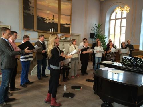 Dress rehearsal Vårdklockans kyrka, Visby.