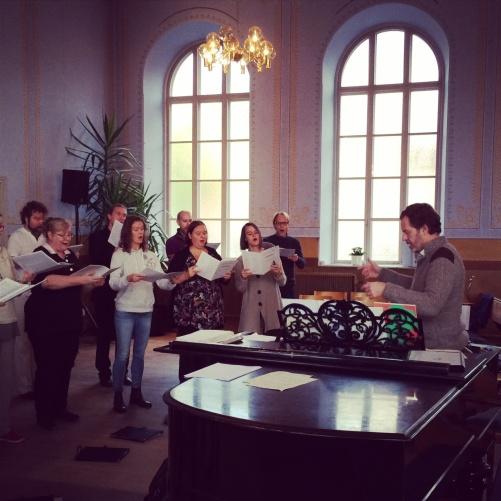The Eric Ericson Chamber Choir and Fredrik Malmberg.