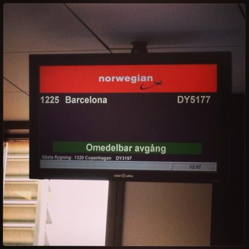 Next stop Barcelona!