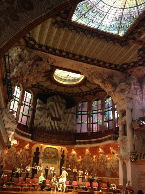 The Eric Ericson Chamber Choir in fantastic Palau de la Música!