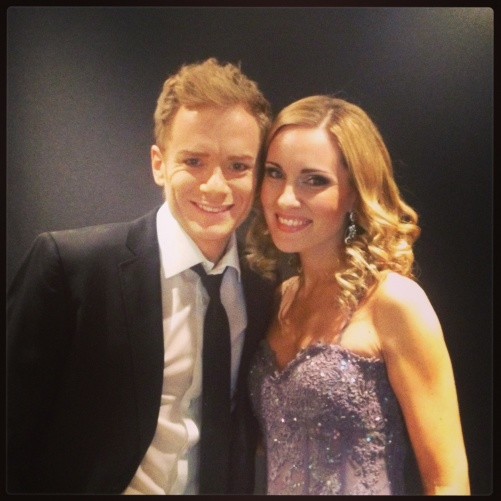 Peter Johansson and Hannah Holgersson during the ceremony at the Gothenburg Concert Hall!