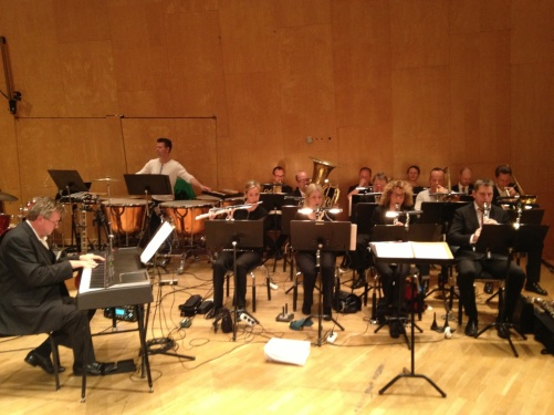 The Chalmers orchestra conducted by Anders Ottosson during rehearsal.