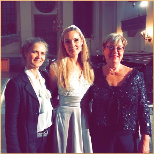 Boel Adler, Hannah Holgersson and Ann-Marie Lysell at Katarina kyrka