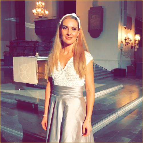 Hannah Holgersson at Katarina kyrka honouring Sven-David Sandström