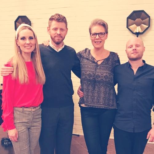 Post concert picture: Hannah Holgersson, Jonas Olson, Josefina Torkelsson and Simon Boström.