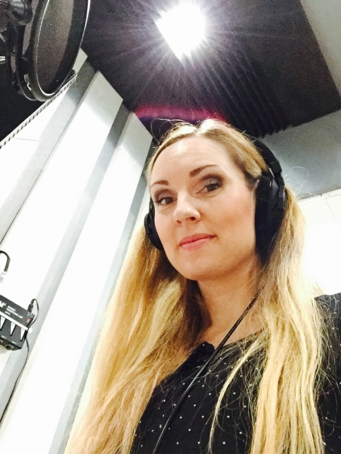 Hannah Holgersson recording music for Love and Hope