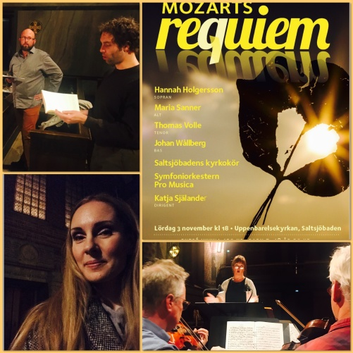 Rehearsal of Requiem by Mozart with conductor Katja Själander. Uppenbarelsekyrkan, Saltsjöbaden.